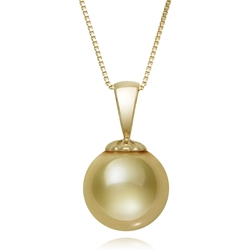 11.0 - 12.0 mm Golden South Sea Cultured Pearl Pendant